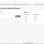 Contacts Detailed Report